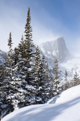 Hallett Peak In Winter, Rocky Mountain National Park