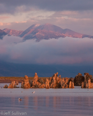 Mountain In The Clouds Over Mono Lake