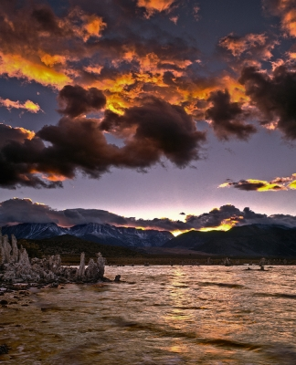 Mono Lake And Clouds