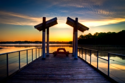 Sunrise Through The Dock