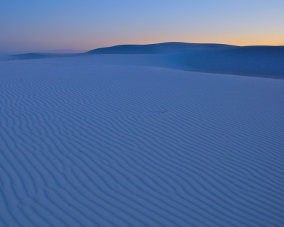 White Sands At Dusk