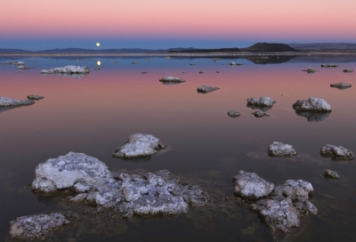 Negit Island With Full Moon Rise From Black Point
