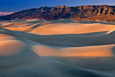 California, Death Valley National Park, Mesquite Dunes, Sunset, Landscape
