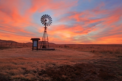 Windmill And Sunrise