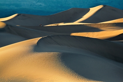 California, Death Valley National Park, Mesquite Dunes, Sunset, Photgrapher