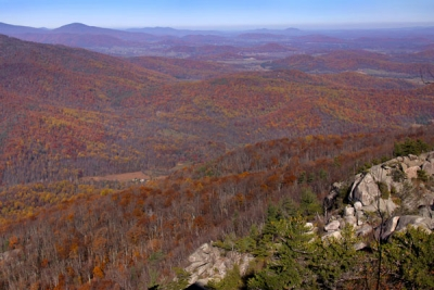 View From Old Rag Mountain Summit