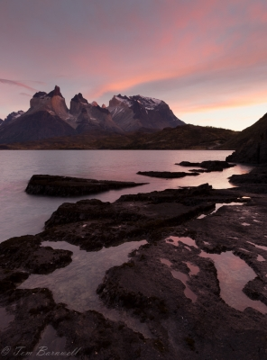 Sunrise On Cuernos Del Paine