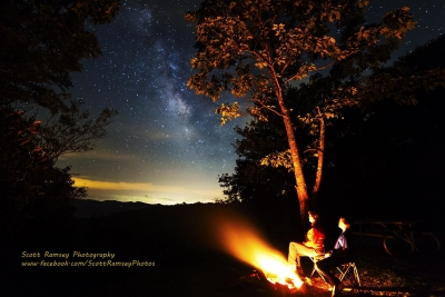 Stargazing By The Campfire