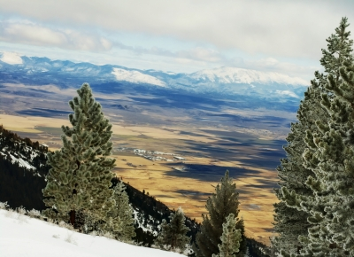Overlooking Carson Valley From 8000 Feet
