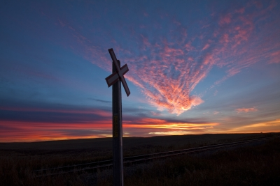 Autumn Sunset On The Prairies