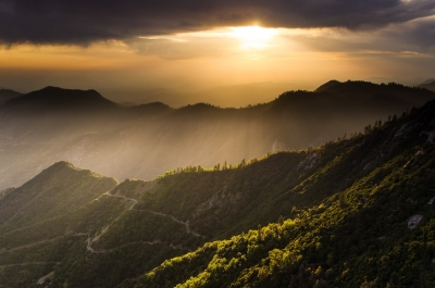 Sunset Seen From Moro Rock, Sequoia Np