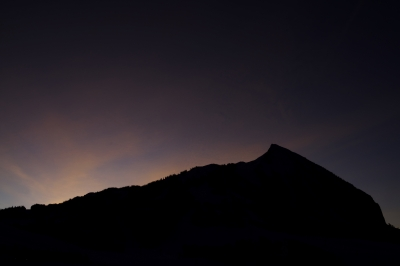 Crested Butte Silhouette