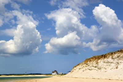 Three Clouds Over Cape Cod