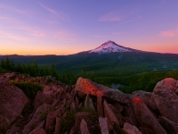 Majestic Mount Hood At Sunset