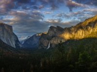 Yosemite Breaking Storm At Sunset