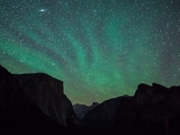 Airglow & Andromeda Galaxy Over Yosemite Valley