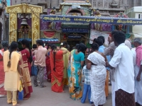 Devotees At Meenakshi Temple, Madurai, India