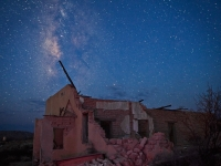 Texas, Ghost Town, Ruins, Terlingua, Milky Way, Galaxy, Dawn