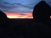 Sunrise In The Boulders