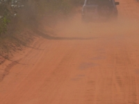 A 4wd On A Red Dirt Road Near Broome, Western Australia