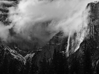 California, Yosemite National Park, California, Winter, Snow Landscape