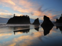 Sunset At Ruby Beach