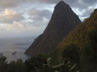 Cruising Between The Pitons