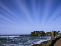 Depoe Bay Oregon, Striped Clouds