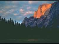 Half Dome At Sunset From Stable Meadow