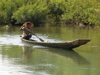 Man In Boat On Nam Ou River
