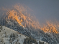 Sunset Over The Wasatch Mountains