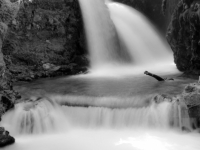 Virgin Creek Falls In Black And White