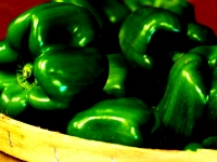 Basket Of Green Peppers