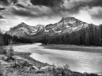 Mount Fryatt And The Athabasca River
