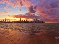 Epic Chicago Sunset