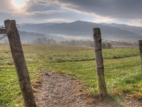 Sunrise On The Fields Of Cades Cove.