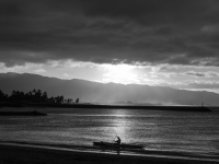 Winter Canoe
