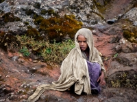 Girl In The Rain, Simien Mountains, Ethiopia