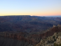The Canyon At Sunset