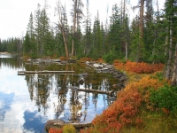 Azure Lake In The Fall