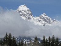Teton Peak With Clouds