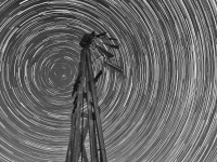 Startrails & Wooden Windmill