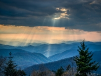 God Beams - Blue Ridge Parkway, Nc