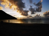 Sunset At St. Lucia
