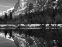 Mirror Lake Reflection Of Half Dome Base