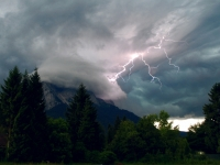 Lightning Strikes The Zugspitze