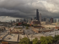 South Loop Chicago Storm Clouds Panoramic...