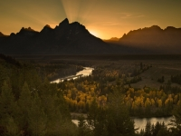 Sunset Over The Snake River