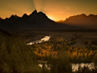 Sunset, Grand Tetons, Wyoming