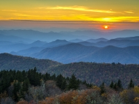 Blue Ridge Parkway Sunset - For The Love Of Autumn
